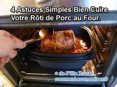 4 Astuces Simples Bien Cuire Votre Rôti de Porc au Four.