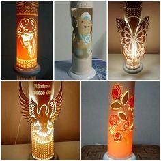 Luminárias decorativas em tubo de PVC