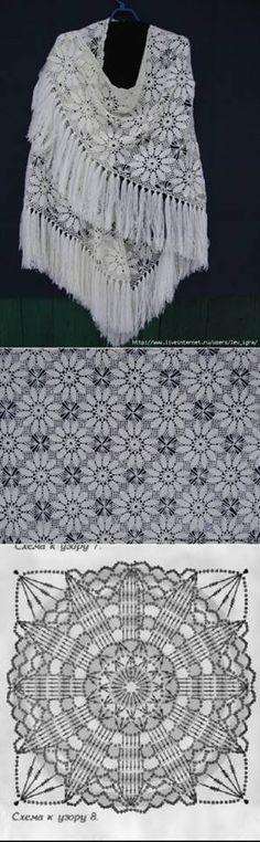 photo - Knitting and Crochet Guide Poncho Au Crochet, Bonnet Crochet, Crochet Shawls And Wraps, Knit Or Crochet, Crochet Motif, Irish Crochet, Crochet Patterns, Crochet Doilies, Autumn Crochet
