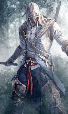 Connor Kenway from Assassins Creed Assassins Creed Tattoo, Arte Assassins Creed, Assassins Creed Odyssey, Assasing Creed, All Assassin's Creed, Assassin's Creed Hidden Blade, Assassin's Creed Black, Assassin's Creed Wallpaper, Wallpaper Animes