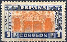 Año Jubilar 1937. Santiago de Compostela. Sello Correos.// http://www.oficinaperegrinocaminosantiago.com/