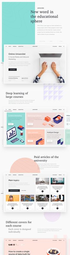 Online Universitet. on Behance