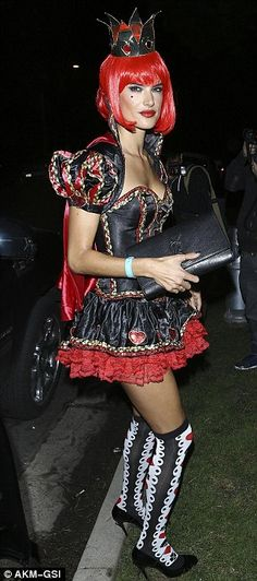 Alessandra as Alice in Wonderland's evil Queen of Hearts