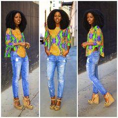Ankara print blouse!