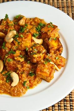 Butter Paneer Masala - Firm silken Tofu works for Paneer if you can not find it.