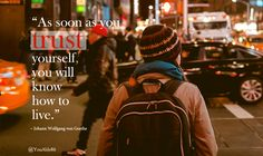 'As soon as you trust yourself, you will know how to live.' — Johann Wolfgang von Goethe. #quote  #quotes #quoteoftheday #quotesdaily #YouAble #inspiration #Goethe