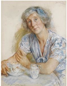 Zinaida Evgenievna Serebryakova (Russian, 1884–1967) Portrait of Geraldine Cobb, pastel, 1947. Sold through auction.