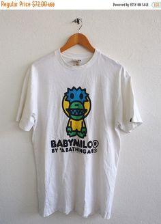 f1f5a719 Baby MILO By Bathing Ape Bape Couture Streetwear New York Streetwear White  Tee T shirt Size L