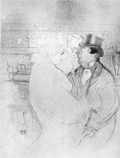 Drawing by Henri de Toulouse-Lautrec.