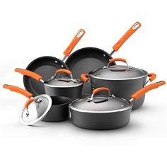 #Kitchen Infoz: #Rachael Ray Ii Hard-anodized Nonstick 10-piece #Cookware Set