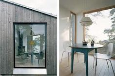 Swedish architects Claesson Koivisto Rune made the priorities of this vacation home on the Baltic Sea very clear. Mountain Cottage, Norwegian Wood, Pavilion, Minimalism, Cabin, Green Building, Norway, Sweden, Seaside