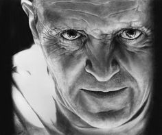 """""""Don't you feel eyes moving over your body, Clarice? And don't your eyes seek out the things you want?"""" ~Hannibal Lecter -- Well, after God knows how ma. Hannibal Lecter, Iconic Movies, Great Movies, Pencil Sketch Images, Sir Anthony Hopkins, Face Anatomy, Crazy Eyes, Hooray For Hollywood, Very Scary"""