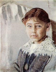 Aleksandr Golovin – Russian) - Portrait Of Olga Rybakova Russian Painting, Painting Art, Paintings, Beauty In Art, Art History, Art Drawings, Gallery, Children, Classic