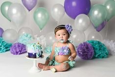 Cake Pops Disney Little Mermaids 17 Ideas For 2019 1st Birthday Cake Smash, Happy First Birthday, First Birthday Themes, First Birthday Photos, Birthday Cake Girls, Birthday Pictures, Mermaid Birthday, Princess Birthday, Baby Pictures
