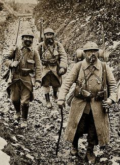 French soldiers, WW1.                                                                                                                                                                                 More