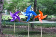 DIY Pinwheels >> http://www.diynetwork.com/how-to/outdoors/landscaping/m/how-to-make-an-outdoor-pinwheel?soc=pinterest