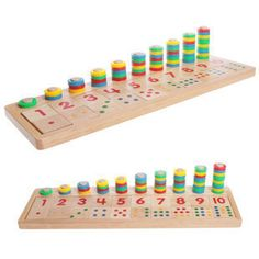 Wooden #Montessori math teaching aid. Learning numbers and realtionships
