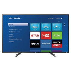 Haier 43 Led Roku Smart TV 1080p - Black (43E4500R)