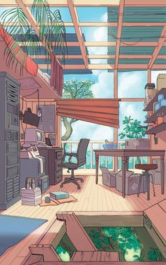 Representatif of aesthetic and study hard (? Anime Scenery Wallpaper, Aesthetic Pastel Wallpaper, Aesthetic Backgrounds, Cartoon Wallpaper, Aesthetic Wallpapers, Aesthetic Art, Aesthetic Anime, Aesthetic Pictures, Aesthetic Green