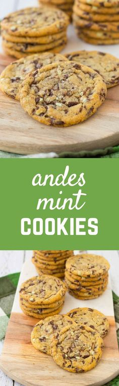 A perfect taste of the holidays, these Andes Mint Cookies are full of chocolate and mint goodness in every single bite! Add them to your Christmas cookie list this year. Get the cookie recipe on http://RachelCooks.com!