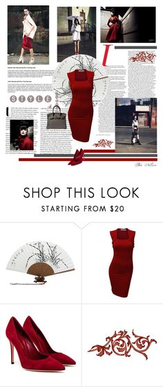 """""""Crimson"""" by breenelson-style ❤ liked on Polyvore featuring Doublju, Gianvito Rossi and Hermès"""