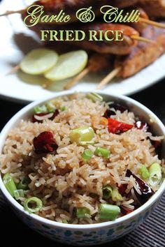 YUMMY TUMMY: Easy Garlic & Chilli Fried Rice Recipe / Garlic Fried Rice Recipe