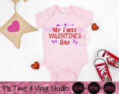 First Valentines Day Baby, Valentine Gift For Dad, Valentine Ideas, Godchild, Design Bundles, Gifts For Dad, Tees, Shirts, Studio