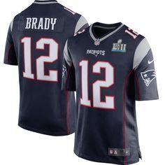 e6c3c49d4 Men s New England Patriots HOF Tom Brady Nike Super Bowl LII Bound Game  Jersey  Nike