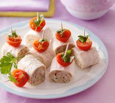 Mini wraps met gerookte makreelsalade