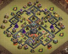 OMG These anti dragon base designs are really cool because of which dragons stopped flying after seeing this town hall 8 base layouts and killed themselves. Clash Of Clans Levels, Dragon Base, War, Cool Stuff, Design