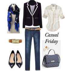 """Casual Friday"" by bluehydrangea on Polyvore"
