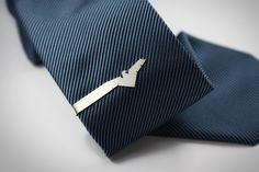 Eagle // sterling silver tie clip