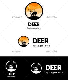 Deer Silhouette - Animals Logo Templates