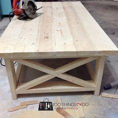 DIY Rustic X Coffee Table 2
