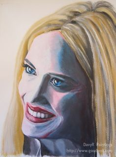 Eva Green Smile Painting by DavyR