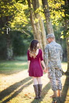 Army couple photography.