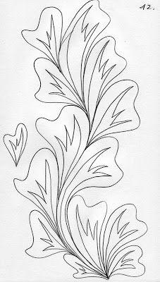 LuAnn Kessi: Quilting Sketch Book...Big Leaf Vines