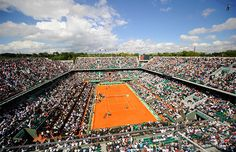Tennis Fan Alert!  French Open tickets are on sale now.  Here is an awesome picture of the Center Court at Roland Garros known as Court Philippe Chatrier