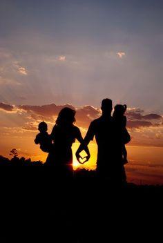 #family #sunset #happy #beautiful #love