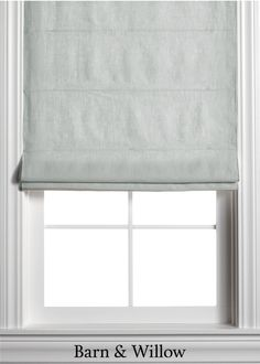 Natural Roman Shade in a chic flat style. Made of premium Belgian Flax Linen, this custom window shade is hand-stitched by expert hands. Farmhouse Roman Shades, Linen Roman Shades, Custom Roman Shades, Curtains With Blinds, Blinds For Windows, Country Master Bedroom, Living Room Windows, Window Design, Window Coverings