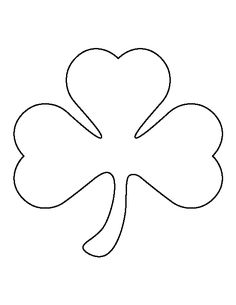 Large shamrock pattern. Use the printable outline for crafts, creating stencils, scrapbooking, and more. Free PDF template to download and print at http://patternuniverse.com/download/large-shamrock-pattern/