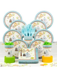 Happy Woodland Boy Party Deluxe Kit Serves 8