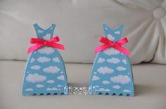 Caixa Vestido–Nuvens  :: flavoli.net - Papelaria Personalizada :: Contato: (21) 98-836-0113  vendas@flavoli.net