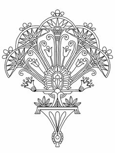 Welcome to Dover Publications - Egyptian Motifs in the Art Deco Style Inspiration for sternum Art Deco Tattoo, Nouveau Tattoo, Fleurs Art Nouveau, Tribal Pattern Tattoos, Tribal Patterns, Pyrography Designs, Muster Tattoos, Egyptian Art, Egyptian Jewelry