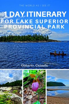 Explore Lake Superior Provincial Park with this 1 Day Itinerary. Discover one of Ontario, Canada's best parks. Ontario City, Ontario Travel, Ontario Lake, Ontario Camping, Canada Ontario, Canadian Travel, Canadian Rockies, Ontario Provincial Parks, Canada Destinations