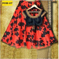Red and Black Banglori Silk Printed & Embroidered Lehenga Choli  Product Info : Blouse : Banglori Silk Lehenga : Banglori Silk Dupatta : Net with embroidered lace  Price : 1800 INR Only ! #Booknow  World Wide Shipping Available !  PayPal / WU Accepted  C O D Available In India ! Shipping Charges Extra  Stitching Service Available  To order / enquiry  Contact Us : 91 9054562754 ( WhatsApp Only )  #uk #sari #look #trendalert #bridal #trend #beautiful #lehenga #fashionstyle #bridal #like…