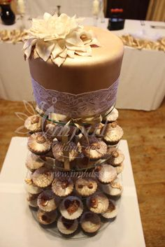 Golden #cup #cake #tower not only for #wedding.
