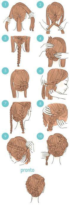 Penteado prático para festas!