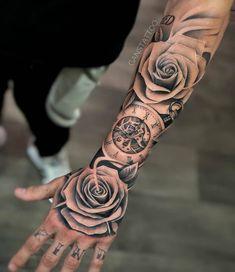 artextattooink | Tattoos Wizard Forarm Tattoos, Knuckle Tattoos, Bone Tattoos, Forearm Sleeve Tattoos, Best Sleeve Tattoos, Tattoo Sleeve Designs, Body Art Tattoos, Arabic Tattoos, Best Forearm Tattoos