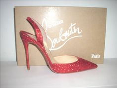 """SOLD!!! NEW WITH BOX & DUST BAG! Christian Louboutin """"Ever"""" Slingback Pumps Size 37.5/ U.S. 7 RETAIL: $625 OUR PRICE: $399"""